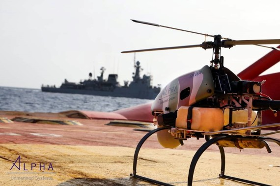 Alpha Unmanned Systems maritime rescue operation in Guard Coast vessel