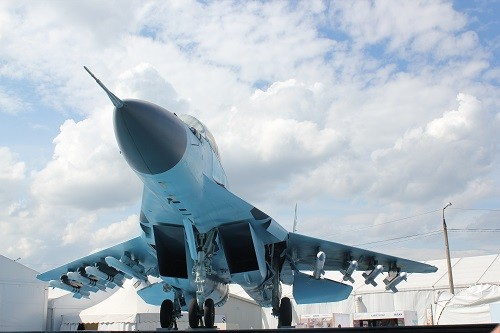 Exclusive news and images from Russia's MAKS air show, including pictures of new multirole fighter MiG-35