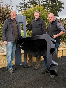 """Penguin Composites Management Team: (left to right) John van der Woude, CEO/Owner; Piers Findlay, Engineer; David Mercer, Manager """