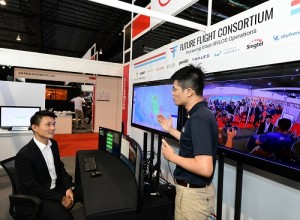 """Mr Baey Yam Keng, Senior Parliamentary Secretary, Ministry of Transport, and Mr Mark Yong, CEO / Co-Founder, Garuda Robotics at the first appearance of the Drone Operations Centre at Rotorcraft Asia 2019 and Unmanned Systems Asia 2019"""