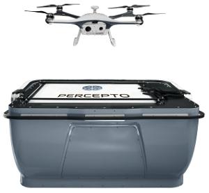 Percepto drone in a box - Take off