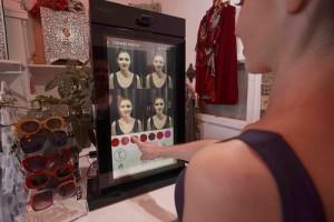 Smart mirror makeup